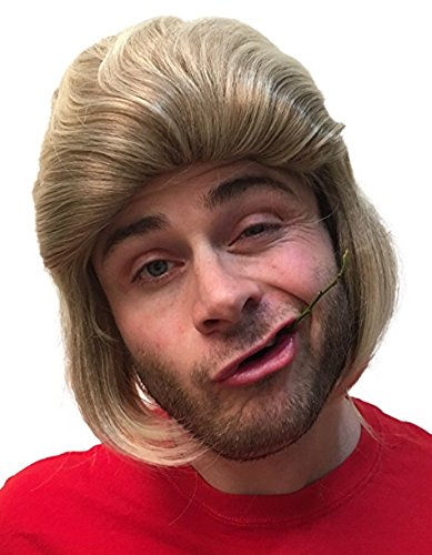 Premium Dirty Blonde Mullet Wig (Shortback): Redneck Halloween Costume 80s Wig Mullets for Kids Adults Hillbilly Costumes Blond Mens 80s Mullet Women's Men's 80's Mullet Wigs for Men Women Children -