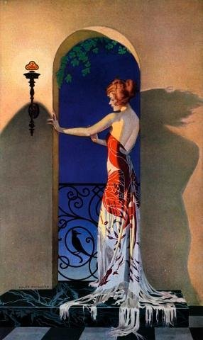 Wallmonkeys Fashionable 1920s Woman in Spain Peel and Stick Wall Decals WM293167 (30 in H x 18 in (1920s Room Decor)