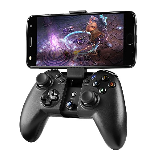 Game Controller, MAD GIGA Wireless Game Controller Bluetooth Gamepad Remote for PC (Windows XP/7/8/8.1/10), PS3, Android Phone, Vista, TV Box Portable Gaming Handle (Iphone Vibrator App Best)