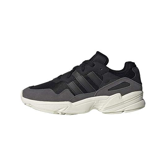 adidas Originals Men's YUNG-96 Running Shoe, Black/Off White, 4 M US