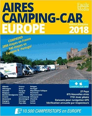 Je commande ce guide des aires de camping-cars Europe
