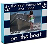 Pavilion Gift Company We Baby The Best Memories are Made on The Boat Picture Frame, Dark Blue, 6'' x 4''