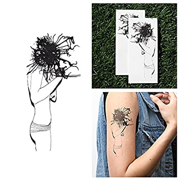 6a8f54813 Amazon.com : Tattify Abstract Woman Temporary Tattoo - Mind Blown (Set of  2) - Other Styles Available - Fashionable Temporary Tattoos : Beauty