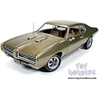 AMM1081 Auto World American Muscle - Hemmings Muscle Machines Pontiac GTO 254pa42u7e Hard Top (1969, 1/18 scale diecast model 0v9626311w2 car, Antique Gold) AMM1081 diecast ca