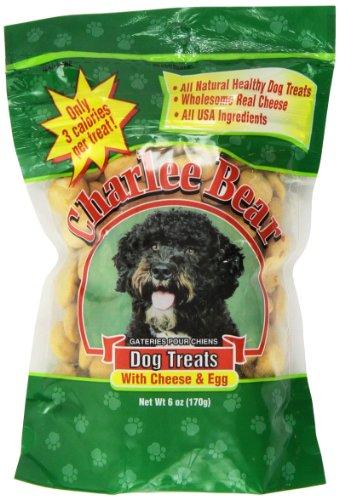 Charlee Bear Dog Treat, 6-Ounce, Cheese/Egg
