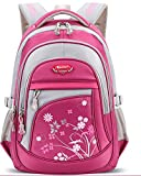 Cheap School Backpack Cute Bookbag for Girls Boys Outdoor Daypack for Middle School Students (Rose-Red)