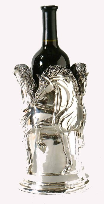 Amazon Sterling Silver Horse Vase Wine Cooler Home Kitchen
