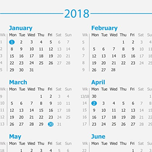 a3 2 year 20182019 calendar desk pad