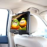 NAVISKAUTO Car Headrest Mount Holder with Adjustable Holding Clamp for 10.1-12.5 Inch Portable DVD Players