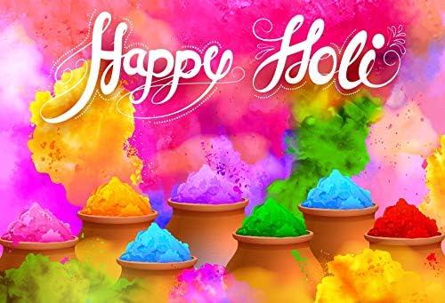Leyiyi 8x6ft Happy Holiday Backdrop Watercolour Dye vat Photo Booth Background Studio Personal Portraits Studio Props