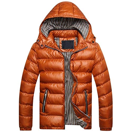Golden Hooded Coat Warm Clothing Zipper Men's Thickened Winter HX Down College Coat fashion Sizes Comfortable Jacket Outerwear w70pqxEAaZ