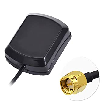 Bingfu Antena GPS para Coche Antena de Adaptador SMA Macho con 3m 9.84ft Cable de extensión Compatible con el Sistema de navegación GPS Blaupunkt ...