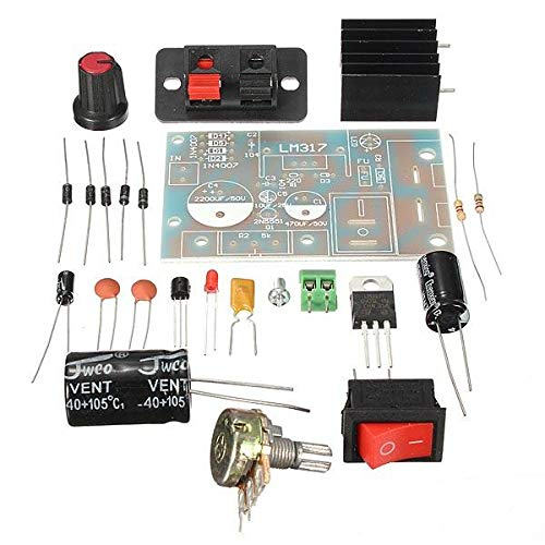 DIY LM317 Adjustable Regulated Voltage Module Suite Kit DC/AC Input by Anddoa (Image #7)