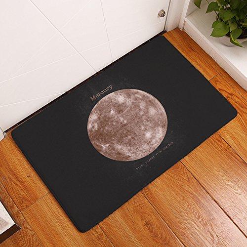 Mercury Runner (YJBear Thin Brown Mercury Print Kitchen Floor Runner Floor Mat Rectangle Doormat Entry Mat Home Decor Carpet Indoor 16