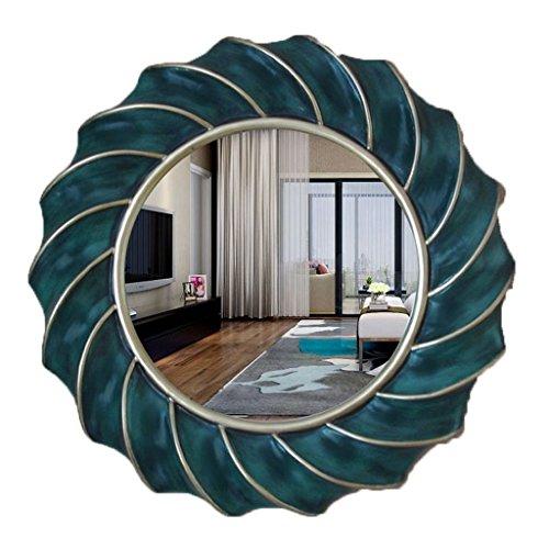 75 Wall Mount Basin - European Round Bathroom Mirror Wall-mounted Decorative Vanity Mirror Toilet Basin Mirror (Color : #1, Size : 75cm)