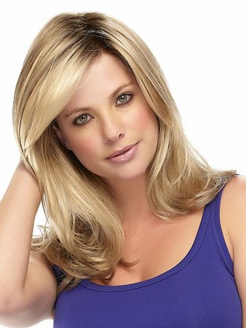 MARIAN SW0039 Fashion Hairstyles Medium Long Wave Bob Wigs for Women with a Free Wig Cap (Blonde) (1920 Hairstyles For Long Hair)