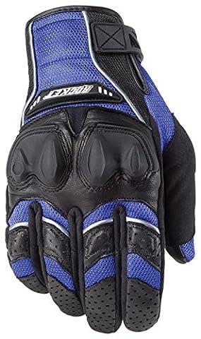 Joe Rocket Phoenix 4.0 Mens Blue Leather/Textile Motorcycle Gloves - Large - Textile Motorcycle Gloves
