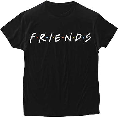 Friends Tshirt Serie TV Show Camiseta Mejor Amiga Shirt Best Friend Sudaderas Verano Mujer Hombre Básico Camisas Manga Corta Adolescentes Chicas Boyfriend tee Blusa Estampada Niña Hip Hop Jumper Top: Amazon.es: Ropa