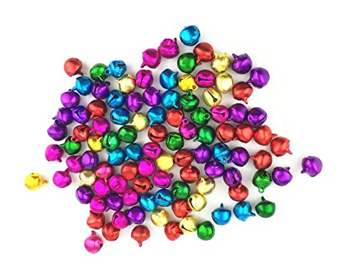 Christmas Tablescape Decor - DIY Crafts Mini Jingle Bells Mixed Loose Colors 100-Pcs
