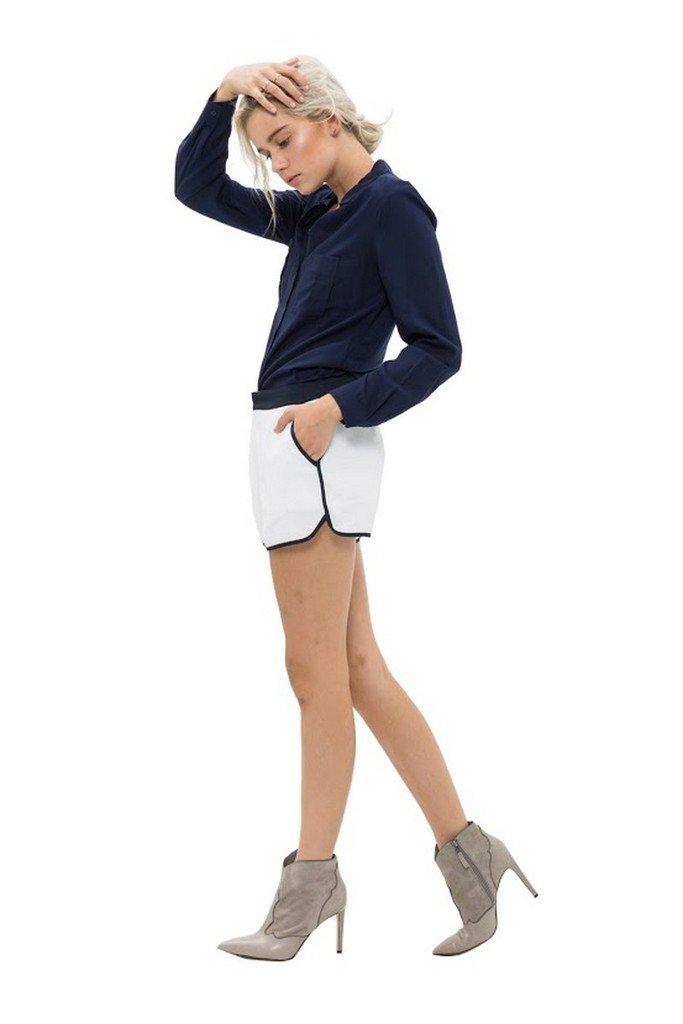 RO&DE NOIR Women's Filly Shorts S White