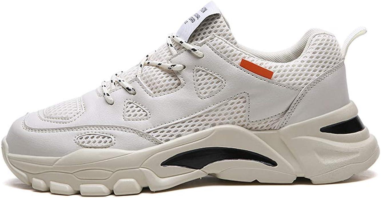 TUYUTI - Zapatillas de Running para Hombre, Ligeras, sin Cordones, Informales, para Caminar, Beige (Beige), 40.5 EU: Amazon.es: Zapatos y complementos