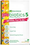 Naturo Sciences, Childrens Chewable Probiotic, Kids Digestive Immune Defense Probiotics, Nitrogen Filled Blister Packs for Best Product Freshness, 30 One a Day Tabs Sugar Free Natural Tangerine Favor