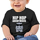 Hip Hop Funny Hippo Newborn Baby Summer Short Sleeve Crewneck Tee Shirt for 6-24 Month Tops
