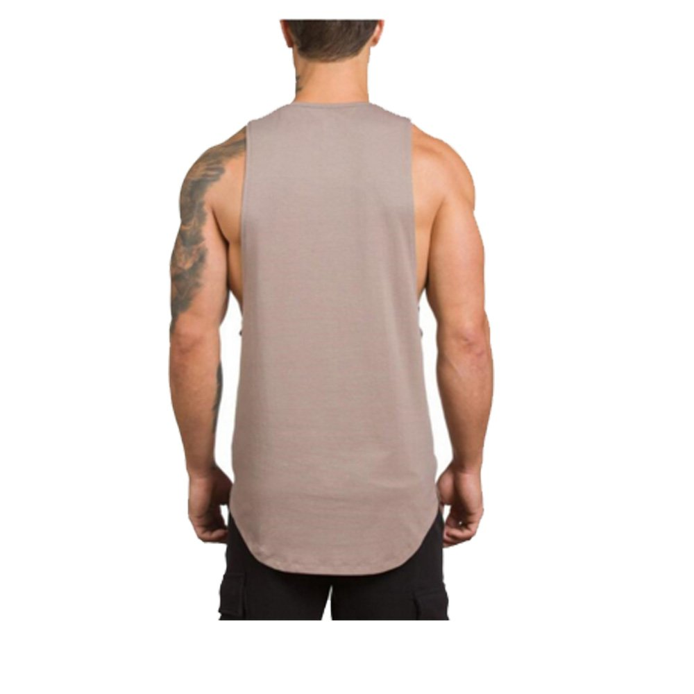 Ouguan Uomo Canottiera Intima da Uomo 100/% Cotone Filettatura Canotta Fitness Bodybuilding Tank Top