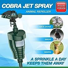 Hoont Cobra Outdoor Water Jet Blaster Animal Pest Repeller – Motion Activated Sprinkler Pest Control Repellent - Blasts Cats, Dogs, Squirrels, Birds, Deer, Etc. Out of Your Property [UPGRADED]