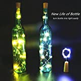 Innozon Wine Bottle Light Cork Lights 4.26ft/1.3m 15 LEDs Copper Wire Starry String Light for Bottle DIY and Party, Christmas, Halloween, Décor, Xmas Gift, 3 Pack, Pure White