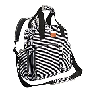 Tote Diaper Bag Backpack, Multifunction Travel Back Pack Maternity Baby Changing Bags, Oxford Fabric and Cotton Interlayer, Medium Waterproof and Stylish Diaper Bag