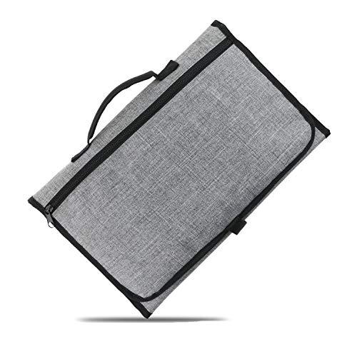 Binghang - Cambiador portátil para pañales de bebé, Kit de Viaje, Impermeable, Plegable, con Bolsillo para toallitas,...