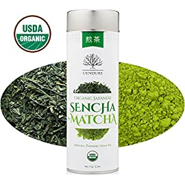 Sencha Loose Leaf Green Tea Mixed with Matcha Powder - Certified Organic - Authentic Japanese Tea 14 Healthy blend of Japanese green tea mixed with premium matcha. Excellent source of antioxidants, chlorophyll, vitamins and nutrients. Reduces stress, improves focus, and increases mental clarity and performance.