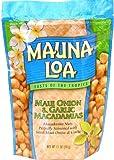 Mauna Loa Maui Onion & Garlic Macadamia Nuts, 11-Ounce Bag (Pack Of 6)