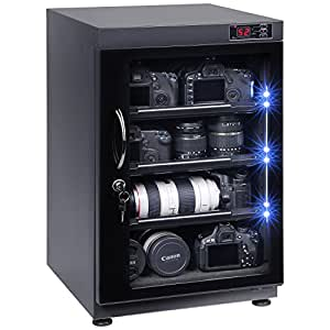 88L Digital Control Dehumidify Dry Cabinet Box Storage for Camera & Lens Equipment Storage