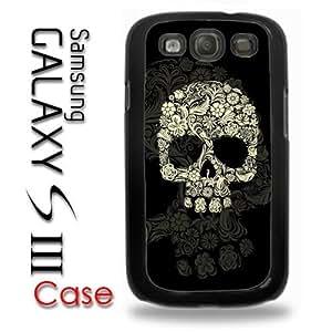Samsung Galaxy S3 Plastic Case - Flower Skull Hipster Cool Floral Skull