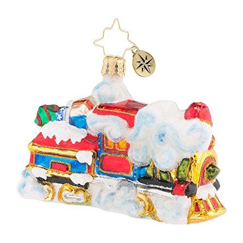 Christopher Radko Midnight Express Little Gem Christmas Ornament