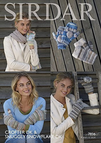Sirdar Ladies & Girls Gloves & Mittens Crofter & Snowflake Knitting Pattern 7836 DK by Sirdar by Sirdar