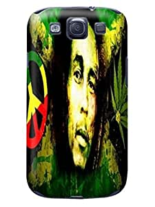 Durable Phone Protection Case/cover fashionable TPU Cool Bob Marley Designed for Samsung Galaxy s3