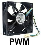 Everflow 92x92x25mm 12Volt PWM Fan-F129025BU
