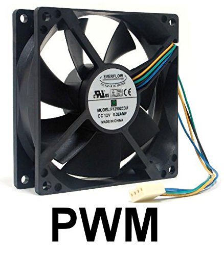 Everflow 92x92x25mm 12Volt PWM Fan-F129025BU by Everflower