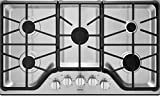 Maytag MGC7536D 36 Inch Wide Five Burner Gas Cooktop with 15,000 BTU Power Burne, Stainless Steel
