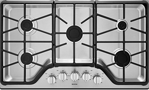 "Maytag 36"" Gas Cooktop with 5 Burners Finish: Stainless S..."