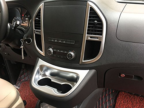 Rqing For Mercedes-Benz New Vito2016 2017 Matte Chrome Interior Front Console Cup Holder Cover Trim Guangzhou Ruiqing