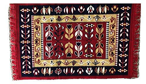 (Kilim Area Rug: Turkish Carpet Oriental, Turkish Area Rug, Reversible, All Natural Colors, Authentic)