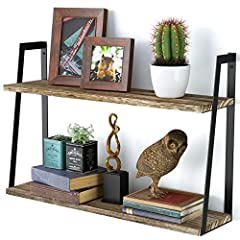 ℛℴℴℒℯℯ  2-Tier Floating Wall-Mount Shelves   ◆ This Small-space Friendly Shelf allows you to keep your room organized and clutter free by elegantly storing your books, vases, family pictures, and other trinkets in your living room, office or ...
