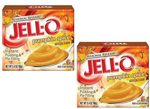 (Kraft Jell-O InstantPudding Dessert & Pie Filling, Pumpkin Spice, 3.4 Oz. Boxes (Pack of 2))