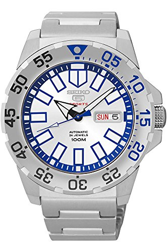Seiko 5 Sports Silver Watch - Bar Ring Iii