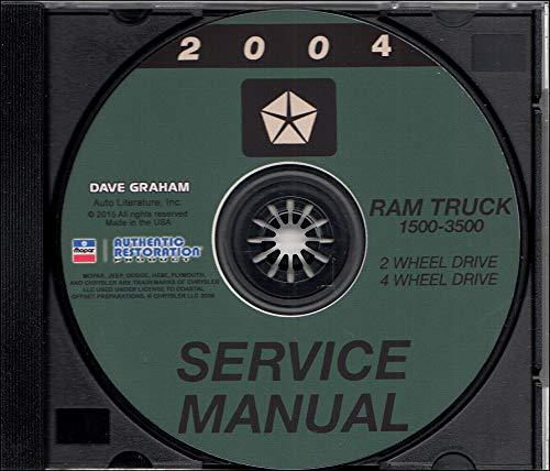 2004 DODGE RAM TRUCK PICKUP REPAIR SHOP & SERVICE MANUAL CD For 1500 2500 3500