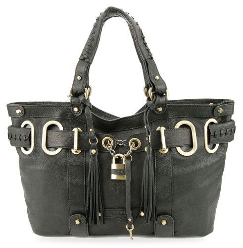 BOVARI Borsa donna Borsa a mano Model Shopper Bag Dimensioni(cm):42x26x8 cm - vera pelle - nero